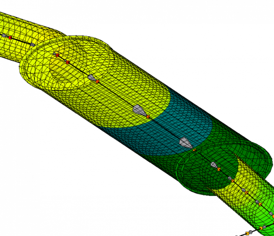 cad geometry for thermal simulation of a simple chamber muffler