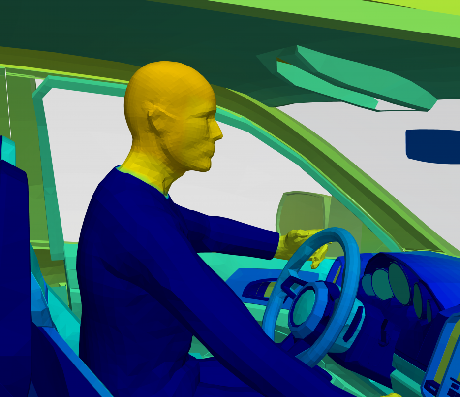 thermal simulation of human in automobile for cabin comfort