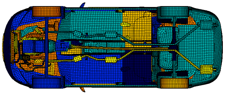 cad geometry of underbody of audi a6 for thermal analysis