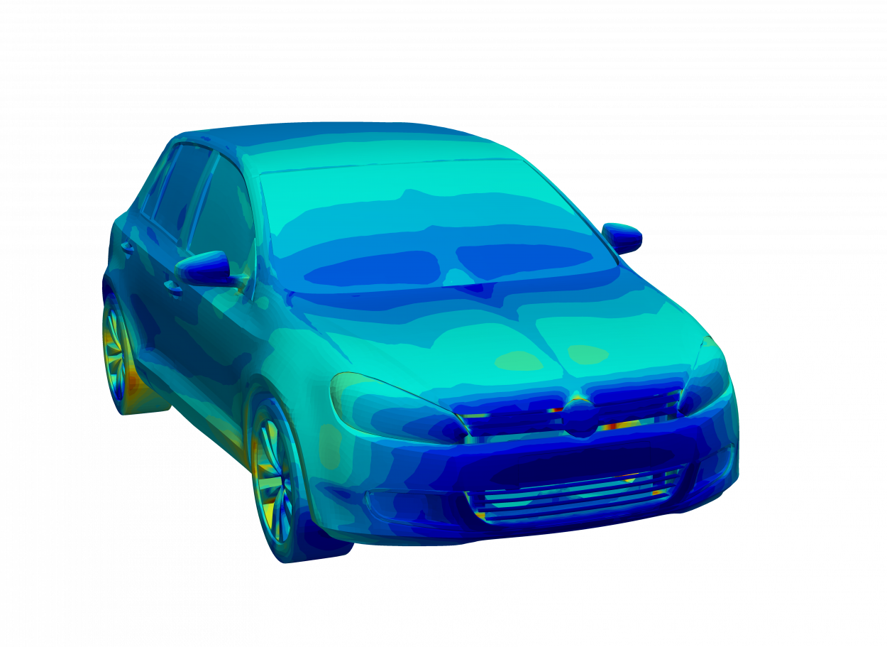 thermal results of volkswagon golf model