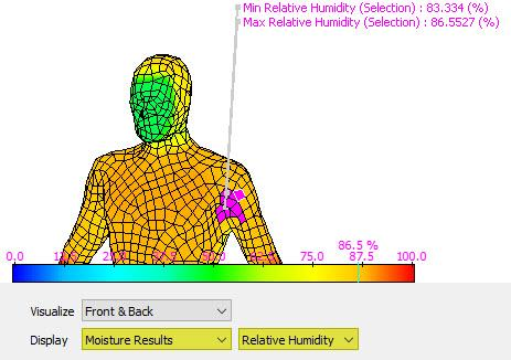 Visualize moisture results in TAITherm